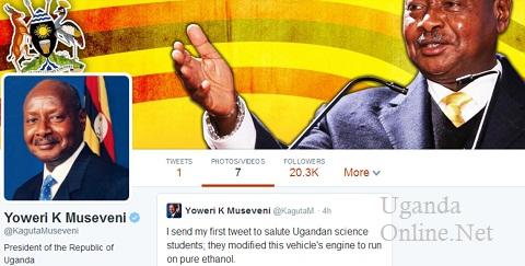 President Museveni's first tweet