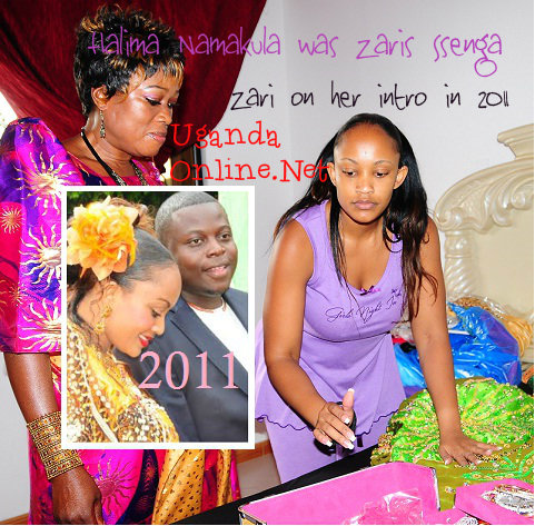 Ssenga Halima Namakula looks on as Zari prepares herself