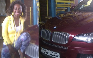 Bad Black next to her BMW X6