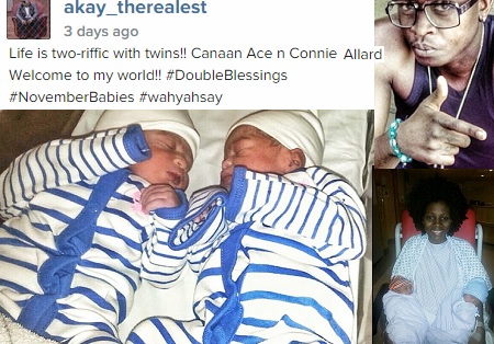AKay Blessed with twins
