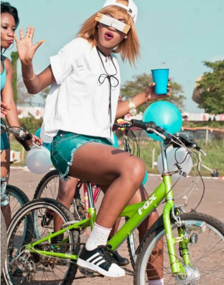 Spice Diana during the shooting of her Akagali video