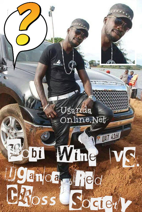Bobi Wine strikes a pose on the black Tundra