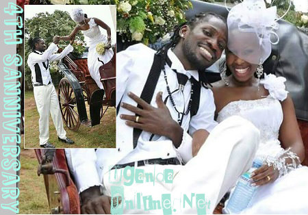 Bobi Wine and Barbie on their wedding day 4 years back
