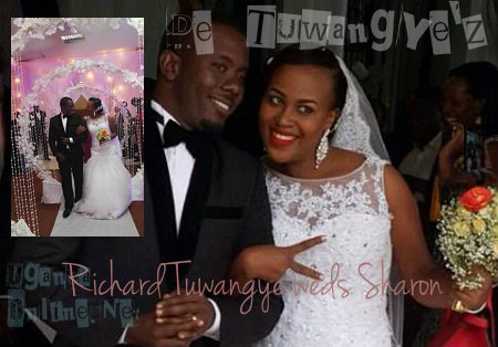 Comedian Richard Tuwangye and Sharon on their special day