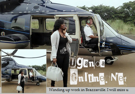 "Ekitone singer winding up her ""work"" in Congo Brazaville"