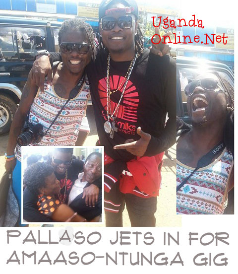Weasel all smiles on seeing his brother, Pius Mayanja aka Pallaso