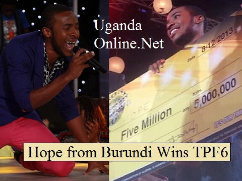 Burundi's Hope wins Tusker Project Fame Season 6