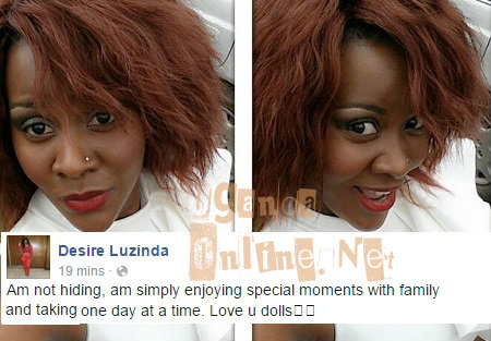 DESIRE Luzinda says she is not hiding