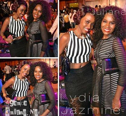 Lydia Jazmine and Juliana Kanyomozi at a recent function