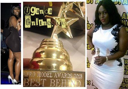 Julie Kaka showing off her big behind award