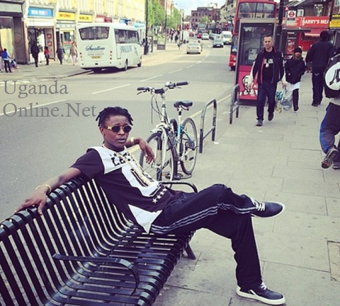 Chameleone enjoying UK weather
