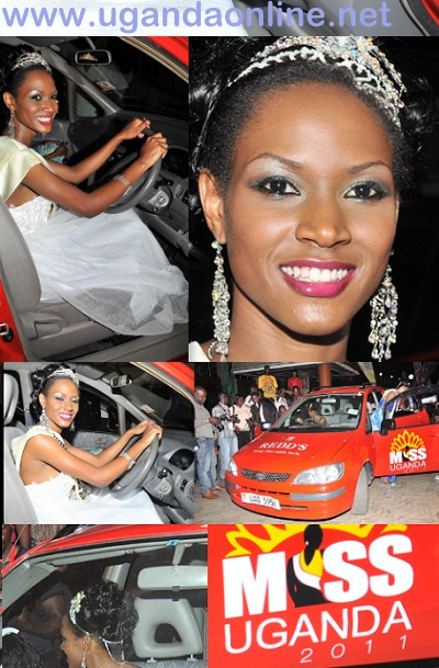 Miss Uganda prize car was a red Toyota Spacio