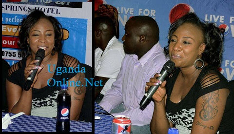 Macka Diamond during the press briefing at Silver Springs Hotel