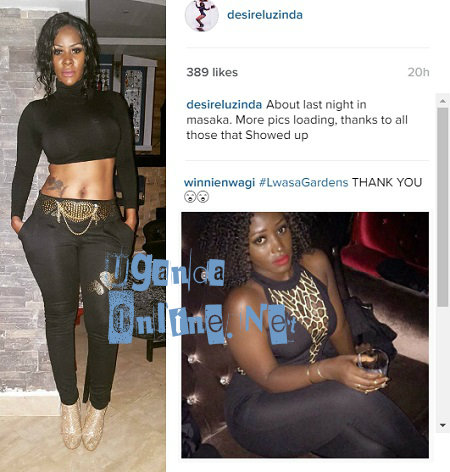 Winnie Nwagi and Desire Luzinda thanked fans for turning up
