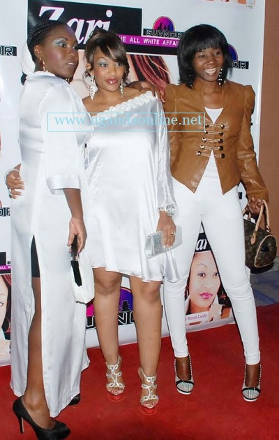 Sylvia, Zari and Suzan at during the previous Zari White Party