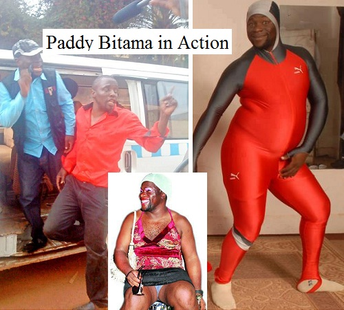 Some of the pictures of comedian Bitama in action