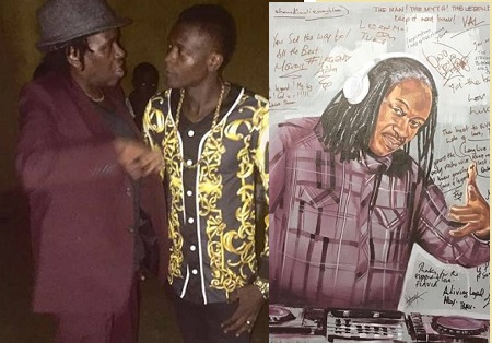 Alex Ndawula and Chameleone at his send off party