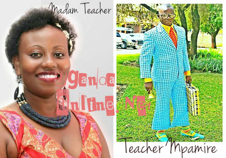 Inset is Teacher Mpamire in action