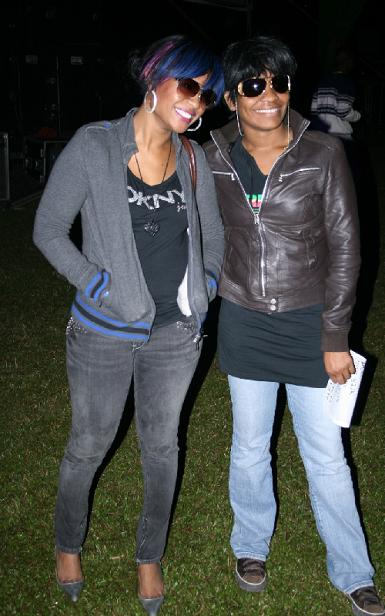 Tanya Stephens and Friend
