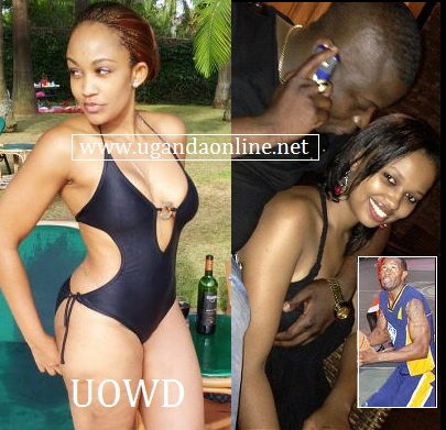 Zari in a swimsuit as Ivan feels Nickita's boob and inset is the basket ball player, Isaac Lugudde