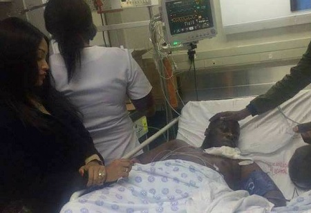 Zari looking after Ivan at a hospital in South Africa