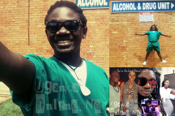Zziwa takes a selfie while at the rehab