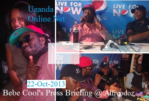 Bebe Cool at Alfredoz Bar during the Battle of the Champions press briefing