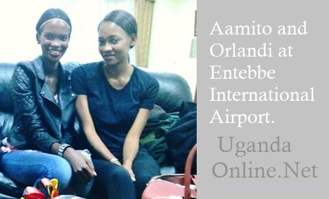 Aamito and Orlandi at the VIP lounge