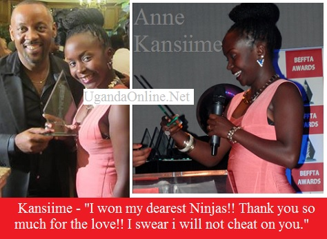 Comedian Anne Kansiime wins a BEFFTA award for best comedian
