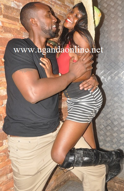 Atlas with a babe @ Club Silk during the Bahamas Nite