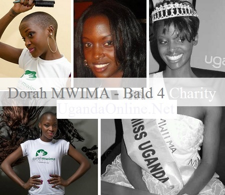 Bald ex beauty Dorah Mwima