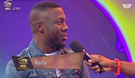 Bally speaking to Ebouka shortly after being evicted
