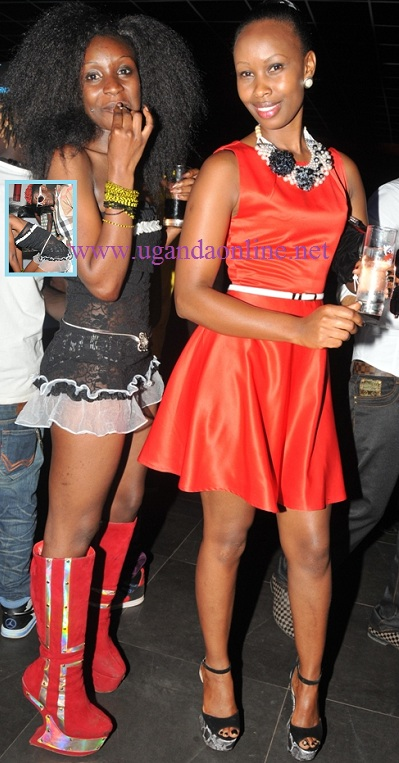 Barbie(Red) and friend during Bobi Wine's birthday