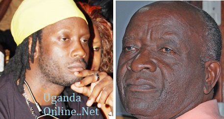 Bebe Cool and his dad Bidandi Ssali who was involved in a car accident on Saturday evening.
