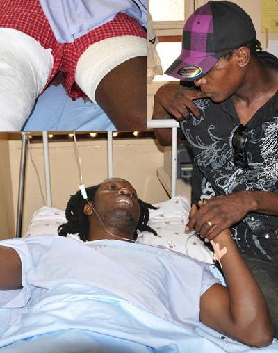 Dr. Jose Chameleone visits Bebe Cool at Nsambya Hospital