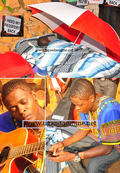 Jose Chameleone - sleeping, playing Valu Valu and on facebook..!