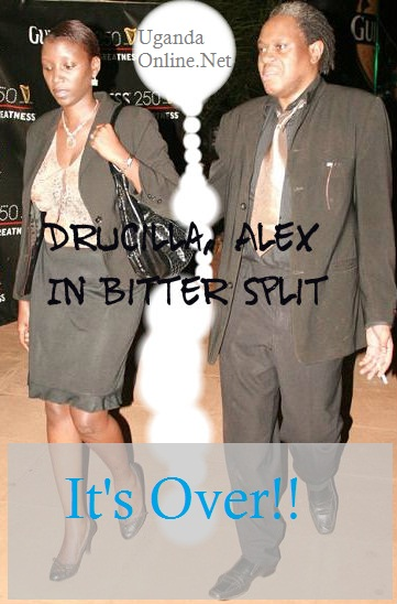 Druscilla and Alex bitterly split