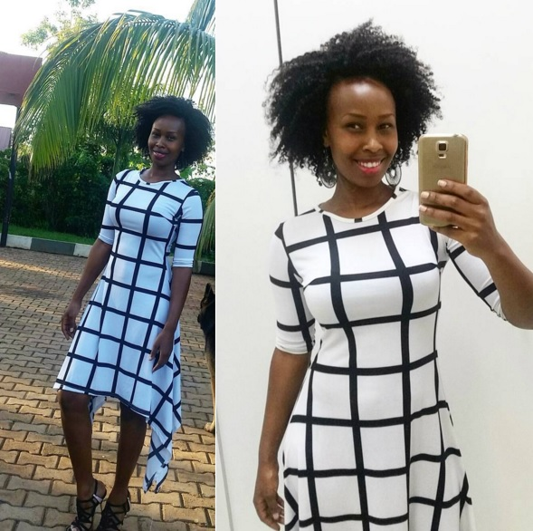 Black and White Square dress pattern