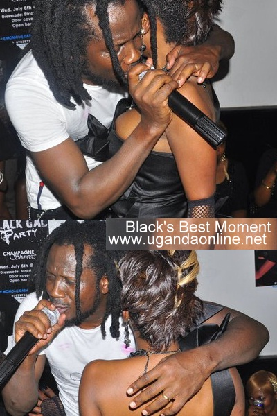 Bebe Cool sings to Bad Black during her Birthday
