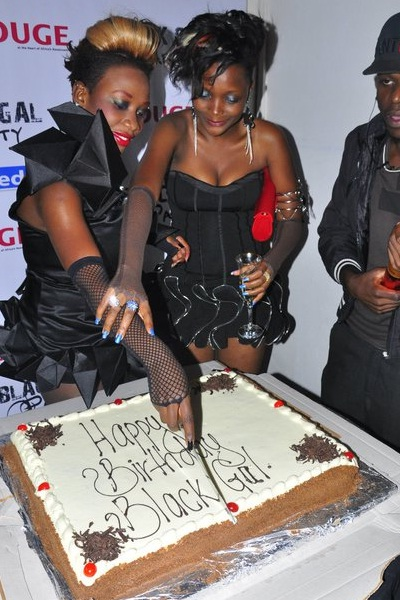 Black Gal Cuts her cake