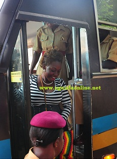 Bad Black on her way to the Anti Corruption Court from Luzira  Prison