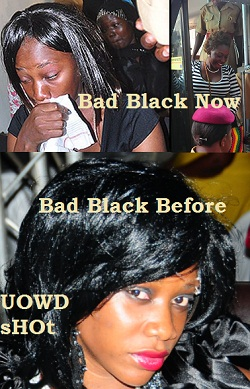 Bad Black sobs during one of the court sessions