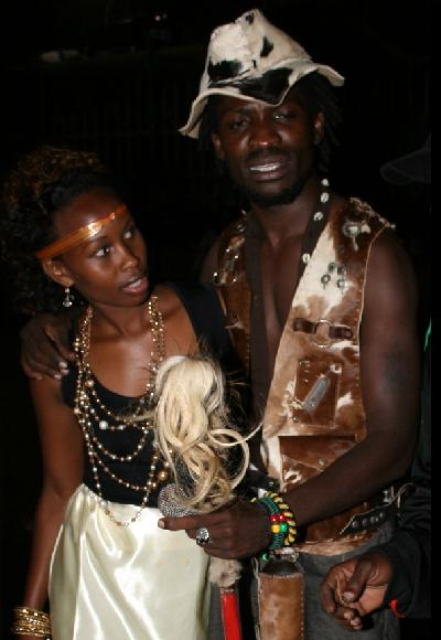 Barbie and Bobi Wine at the Carolina Launch at Hotel Africana