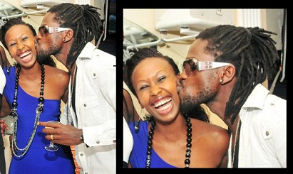 Barbie all smiles on Valentine's day as Bobi Wine planted a wet one on her cheek