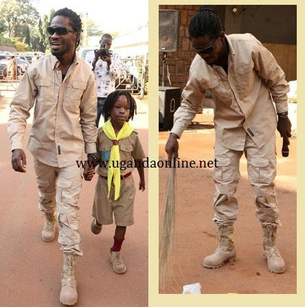 Bobi Wine and Kampala during the Kampala City Yange Cleaing exercise at Mulago Hospital
