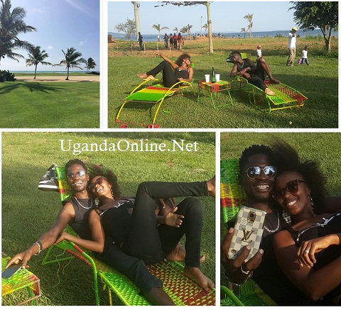 Bobi and Barbie having a nice time at One Love Beach, Busabaala