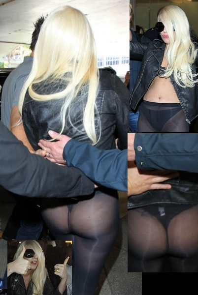 Lady Gaga on arrival at Lax Airport