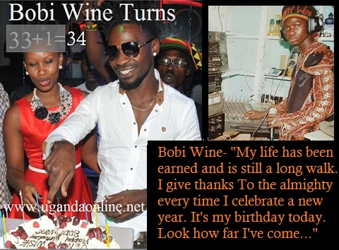 Bobi Wine turns 34