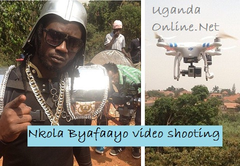 Bebe Cool during the Byafaayo video shoot