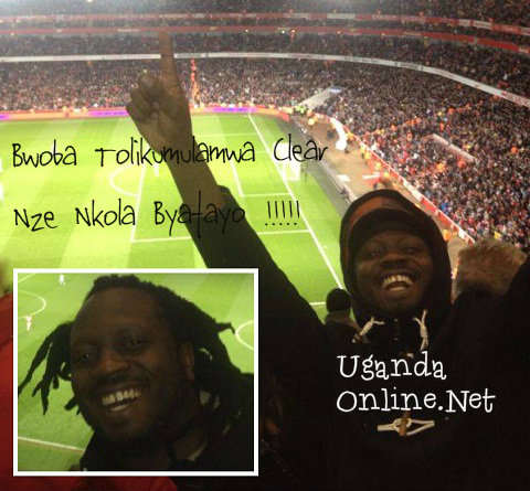 Bebe Cool at Emirates Stadium -Arsenal VS. West Ham